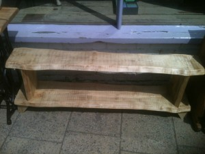 sycamore plank bench or side table